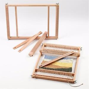 Indian Weaving Loom Wooden American 3 Shuttles Easy Kit Instructions