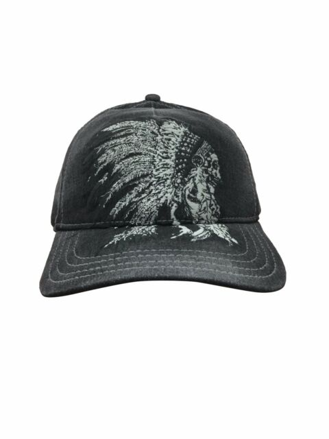 True Religion Chief Skull Baseball Cap Black