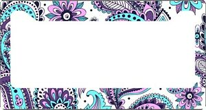 Purple-Paisley-License-Plate-Frame