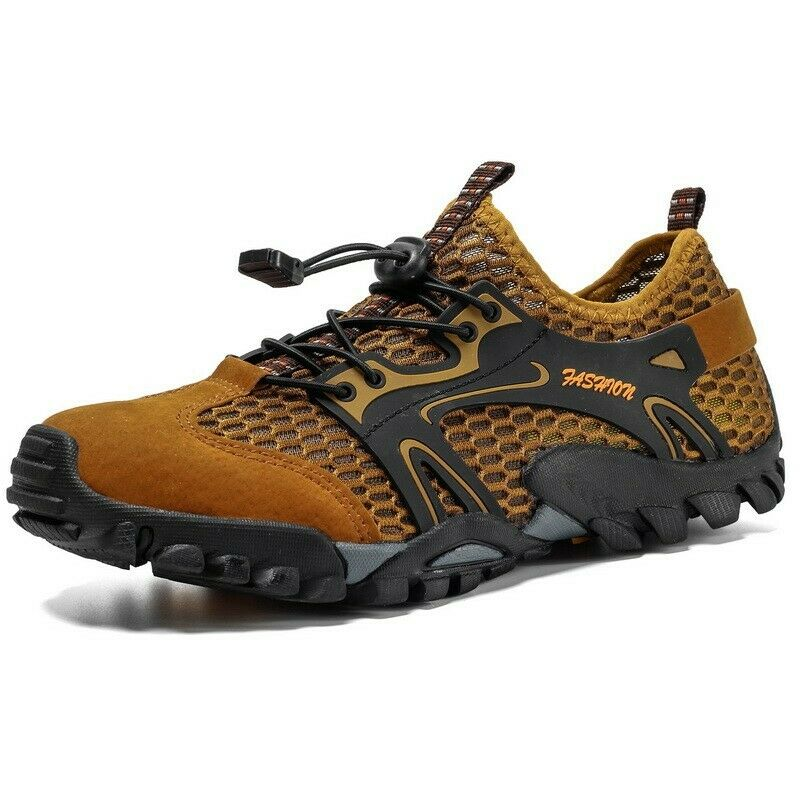 Mens Hiking Running Athletic Lace Up Sport Mesh Sneaker Shoes Leisure Spring