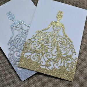 Details About Girl S Birthday Invitation Cards Glittery Folding Type 50 Pcs Lot Party Supplies