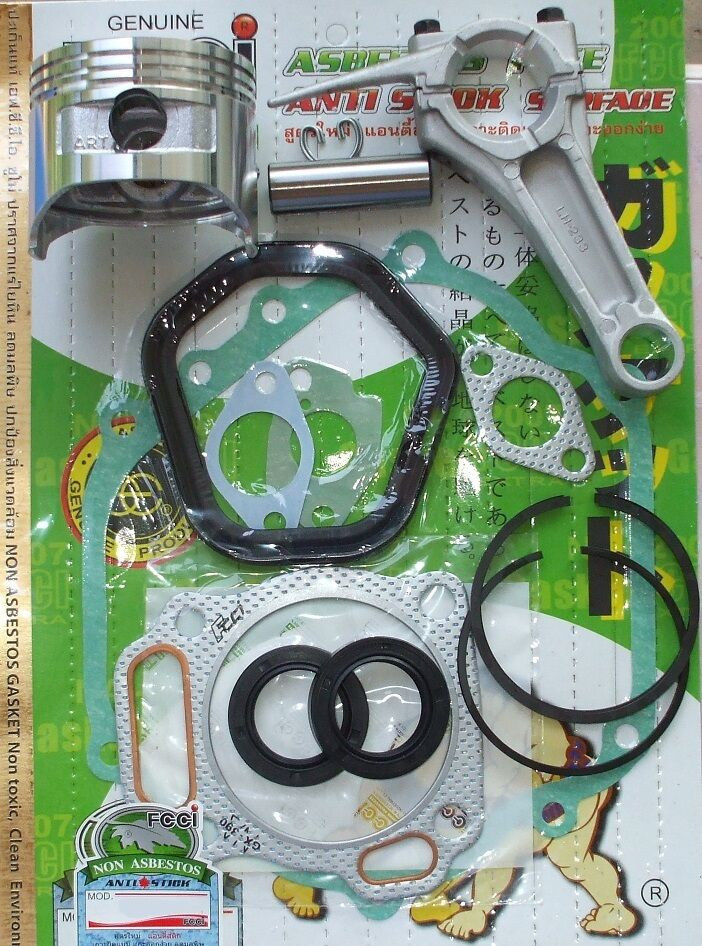 HONDA GX340 GASKETS SEALS CONROD CONNECTING ROD, PISTON & RINGS SET