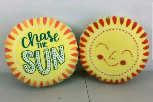 2 pack 13 inch diameter. Chase the SUN Summertime Throw Pillows