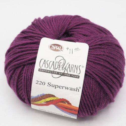 Cascade Yarn 220 Superwash Plum Crazy 882