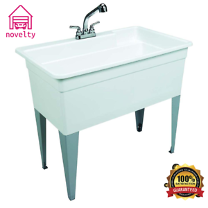 Deep Sink For Laundry Room.Details About Xl Utility Sink Deep Indoor Outdoor Kitchen Garden Garage Laundry Room Tub New