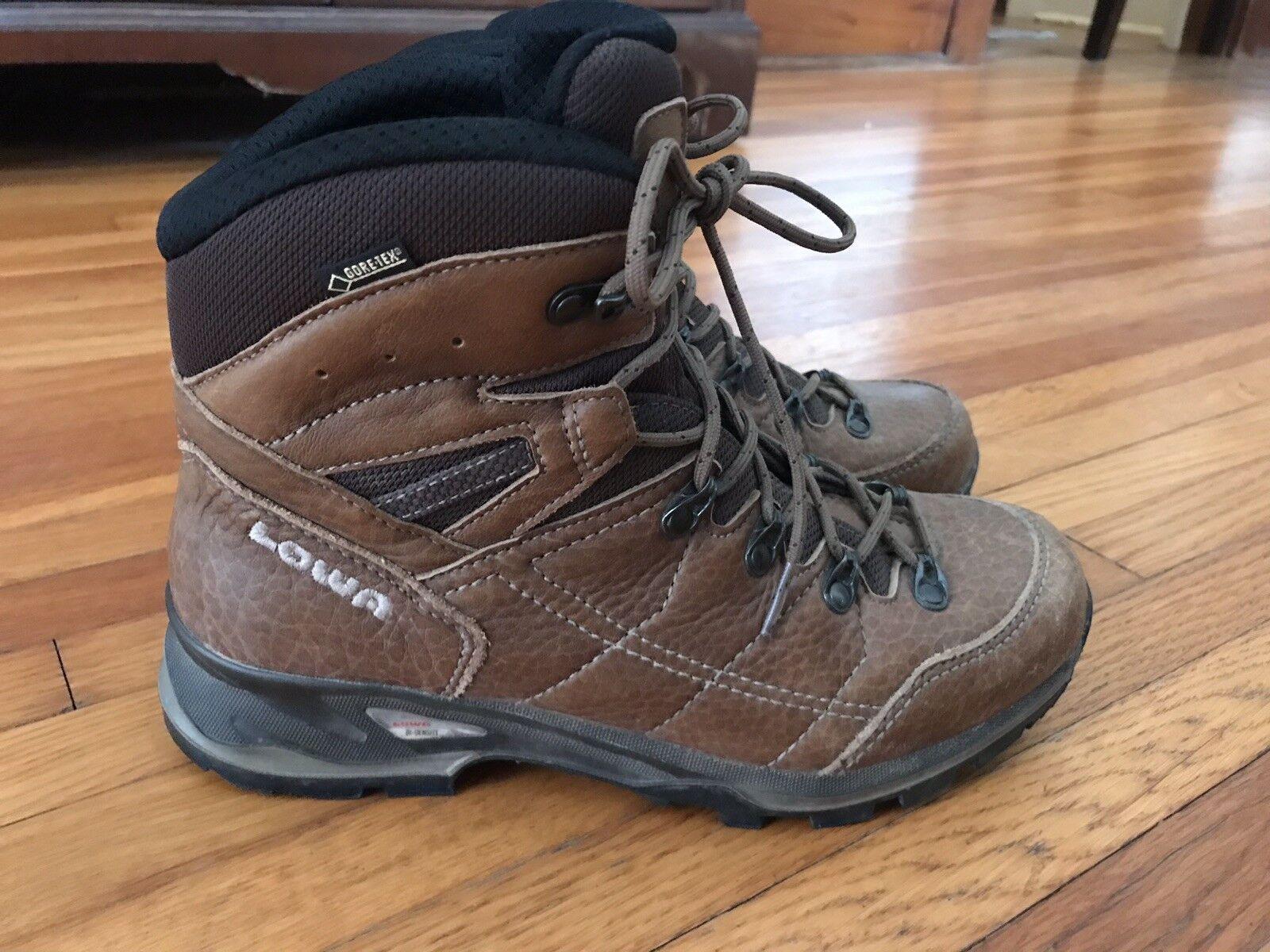 Lowa Hudson Goretex Womens Hiking Trekking Boots Full Grain Leather Size 7.5 US
