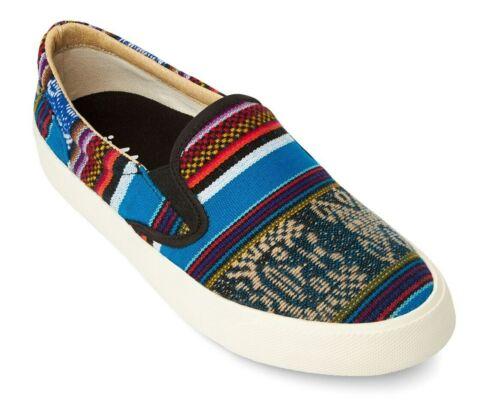 Vegan Flat Shoes Unisex Fair Trade Inkkas Bluebird Slip On Sneakers