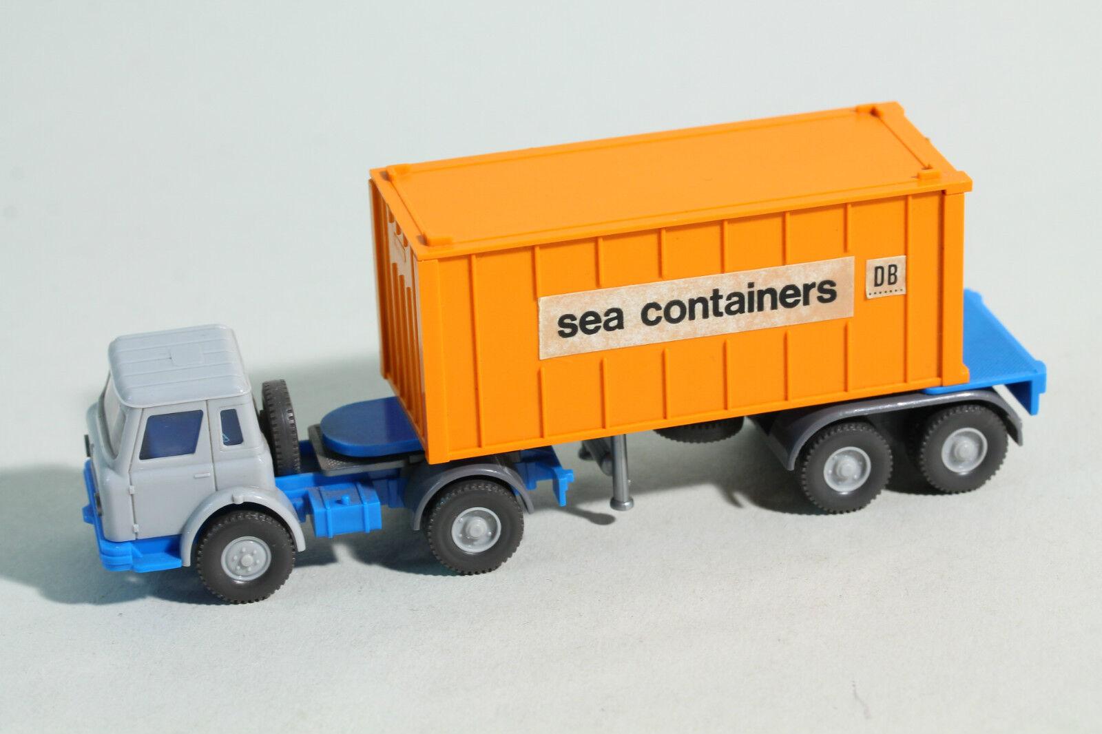 525 Wiking con us tractor y y y  sea containers  en gris plata & naranja decf31