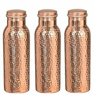 Copper Printed Bottle Water Health Benefits 950 ml Leakproof For Gift Free Ship