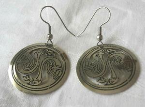Aggressiv Clonacraft, Irland, Keltischer Schmuck, Silberfarbene Ohrringe