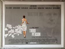 Cinema Poster: THIRD PERSON 2014 (Quad) Liam Neeson Mila Kunis Adrien Brody