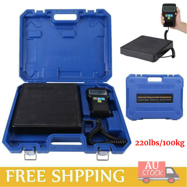 100KG Digital Electronic Refrigerant Charging Scale Weight HVAC A/C with case