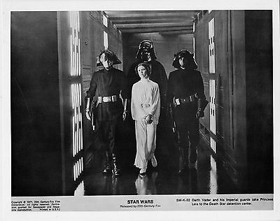 Star Wars 1977•Darth Vader & Imperial Guards take Princess Leia into Detention