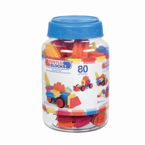 80 Pieces in Jar Bristle Blocks Toy Building Blocks for Toddlers