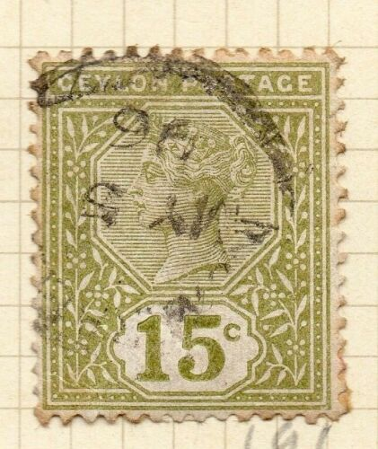 Ceylon 1886 Early Issue Fine Used 15c. 154428