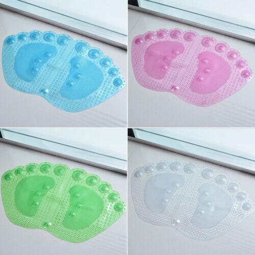 Strong Anti Non Slip Bathroom Rubber Massage PVC Suction Cups Shower Bath Mat