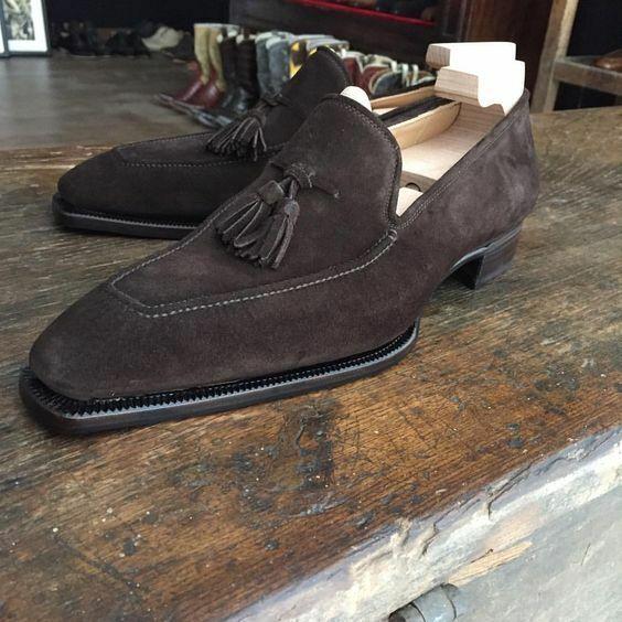 Homme Fait à la main Chaussures Classique Tassel Loafers Design marron Formal Wear Décontracté Bottes