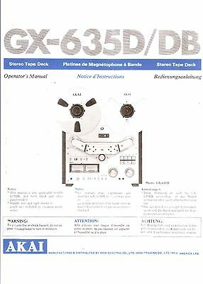 Akai  Bedienungsanleitung user manual owners manual  für GXC 725 D Copy