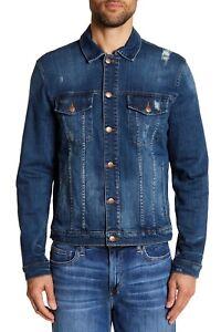 19e18b4a38d Joe's Jeans Distressed Denim Jacket Mens XL Style TKPCZZ1050 Medium ...