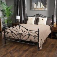 Denise Austin Home San Luis Queen Charcoal Iron Bed on sale