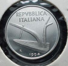1994  Repubblica Italiana 10 lire  FONDO SPECCHIO  da divisionale