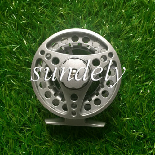 Silver 85mm 5//6 Aluminum Fly Fishing Reel Trout Fishing Left or Right Handed USA
