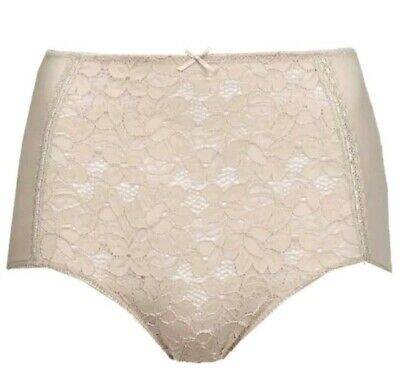 M/&S MARKS /& SPENCER ALMOND COTTON RICH FULL BRIEF STYLE KNICKERS UK SIZE 10
