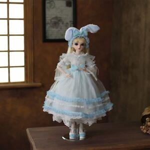 New-1-3-BJD-Puppe-mit-BJD-Doll-Kleidung-Schuhe-mit-Augen-Gesicht-Make-up-Maedchen