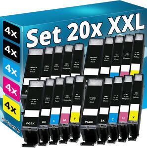20x-XL-TINTE-PATRONEN-mit-CHIP-fuer-CANON-PIXMA-IP7250-MG5450-MG5550-MG6450-MX925