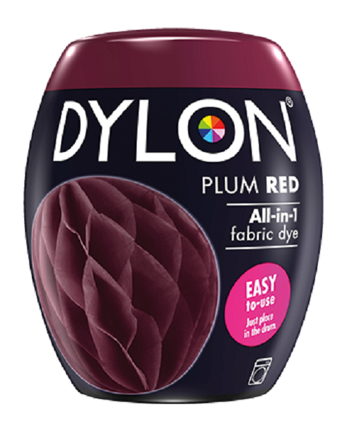 dylon machine dye pod plum red easy-to-use fabric colour for laundry