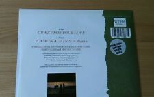 "RARE Bee Gees Crazy For Your Love 1988 UK 7"" Promo Sticker W8139 Ex/Ex+ Pop Rock"