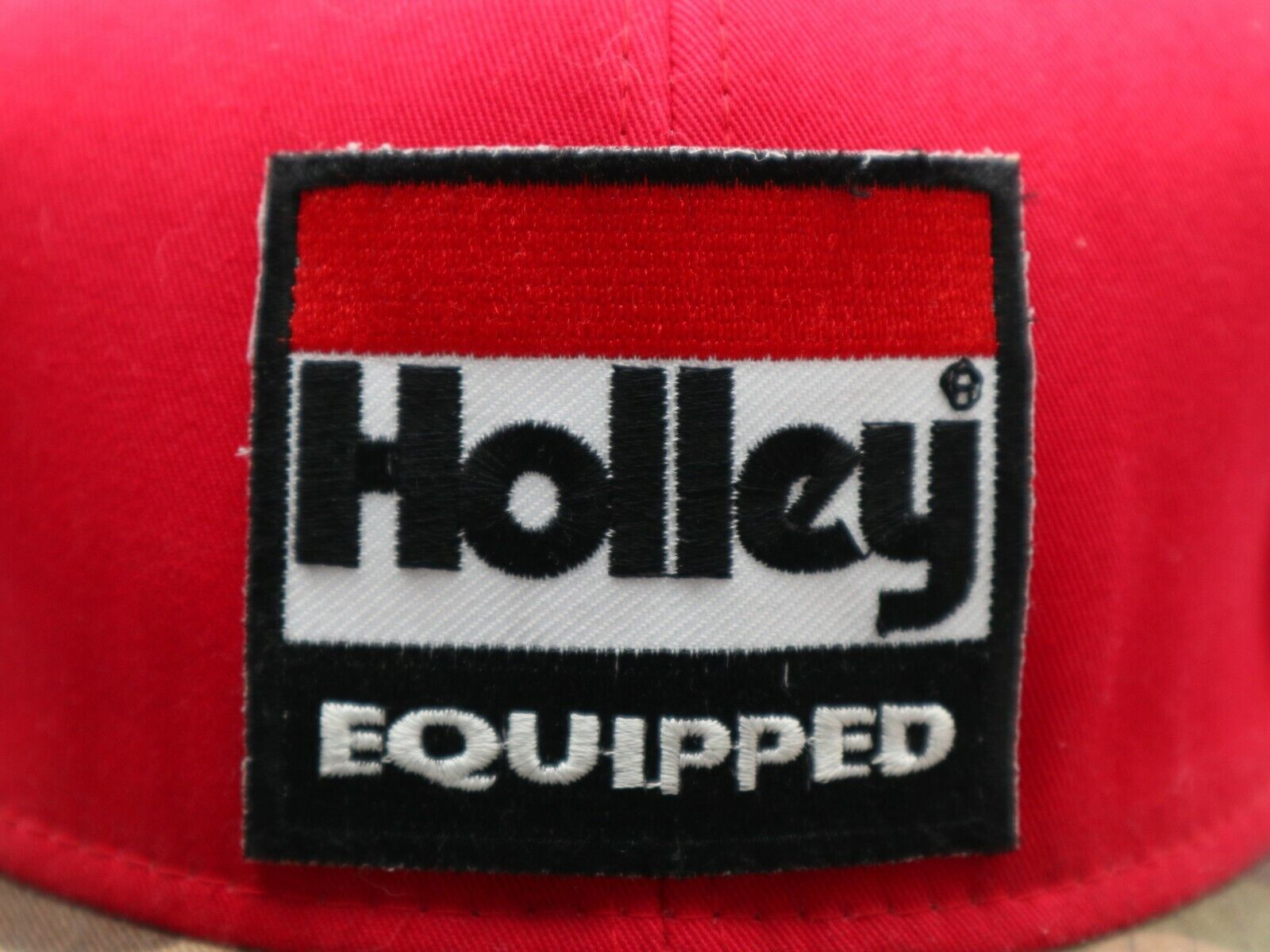 Holley Equipped red camo snapback - image 2