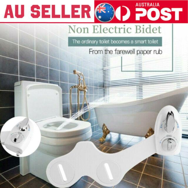 Non-Electric Dual Nozzle Bathroom Bidet Toilet Seat Attachment Water Spray Kits