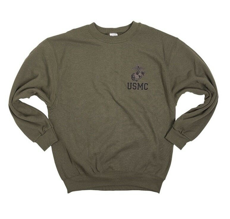 USMC US Marine Corps MC Army PT EAG Sportshirt Jogging Pulli Sweatshirt oliv