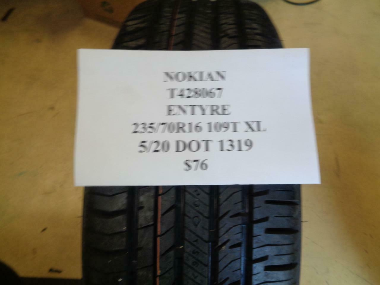 Nokian ENTYRE All Season Radial Tire-235//70R16 109T XL-ply