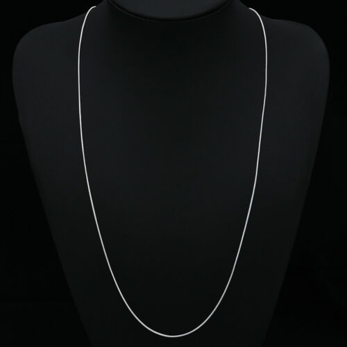 10PCS Wholesale 925 Sterling Solid Silver 1MM Snake Chain Necklace 16-28 inches