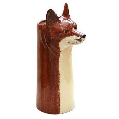 Fox Table Vase Quail Pottery Hunting Gift Present Award