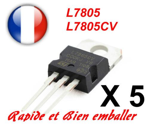 LOT de 5 REGULATEURS L7805CV