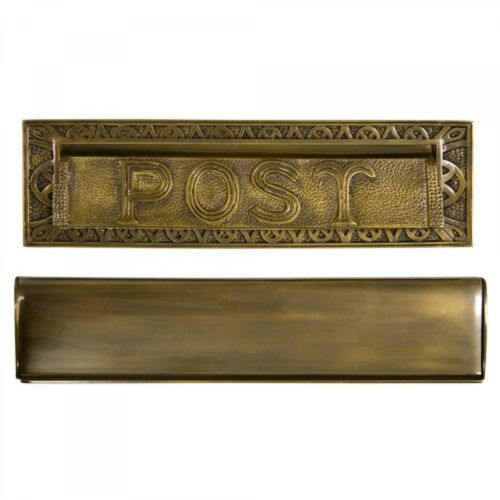 """Naiture Solid Cast Brass Heavy Duty /""""Post/"""" Mail Slot In 2 Sizes and 4 Finishes"""