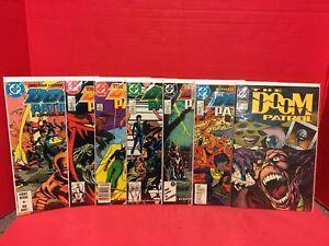 Lot-Of-7-Doom-Patrol-1-6-25-DC-Comic-1987-Larsen-Grant-Morrison-1989-New-Format