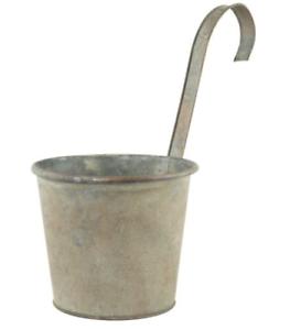 Vintage Metal Hanging Planters Plant Pots Indoor Garden Flower Fence Balcony Pot Ebay