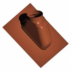 Kunststoff-Abgassystem Schrägdachpfanne 25-45?, Red-Brown, Flexible, Dn 80/125