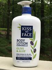 Kiss My Face Fragrance Olive and Aloe Moisturizing Lotion 16 FL Oz