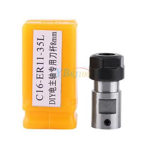 ER11-A 8mm Collet Chuck Holder Motor Shaft Tool Holder Extension Rod CNC Tool SG