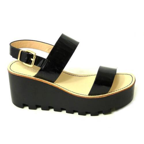 5//6 7//8 Pour Femme Plateforme Semelle Sandales Chaussures D/'été Noir Sz 3//4
