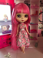 "US-Seller!12"" Neo Blythe from factory Nude Doll Pink hair Pink skin"