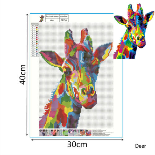 DIY 5D Diamond Painting Full Drill Animals Embroidery Cross Stitch Arts Kit/'/'/'/'