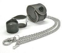 Loupe Jewelers 10x Triplet 18mm Black Rubber & Silver Leather Case & Free Chain