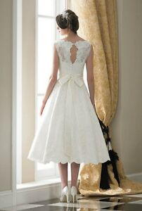cf38da27ee4bb NEW White Ivory Short Wedding Dress Bridal Gown Custom Size 6 8 ...