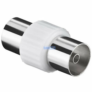 TV-Aerial-Lead-COUPLER-Female-to-Female-Socket-COAX-Connector-COAXIAL-Adapter
